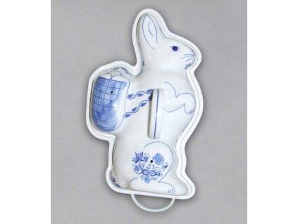 Pečící forma - zajíc - cibulový porcelán 70622