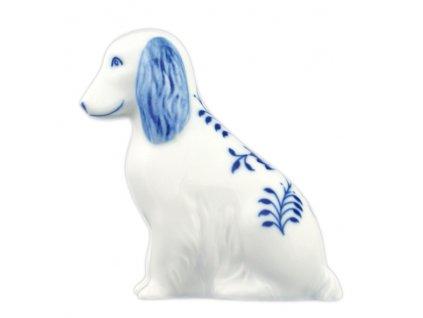 Pes sedící - cibulový porcelán 10450