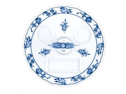 Podnos kulatý s porc. klíčem - cibulový porcelán 70514