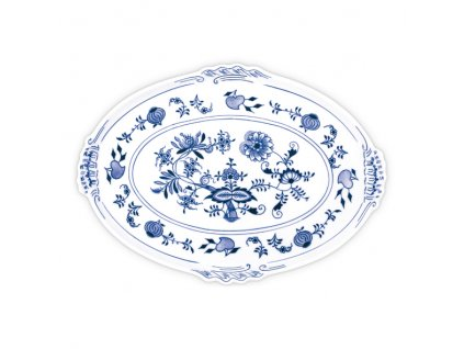 Podnos oválný 39cm - cibulový porcelán 10093