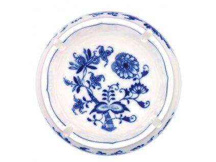 Popelník kulatý s výřezy - cibulový porcelán 10174