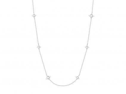 Preciosa Náhrdelník Gemini z chirurgické oceli s českým křišťálem Preciosa, bílý 7337 00