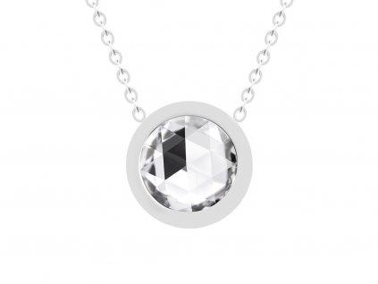 Preciosa Náhrdelník Gemini z chirurgické oceli s českým křišťálem Preciosa, krystal 7339 00
