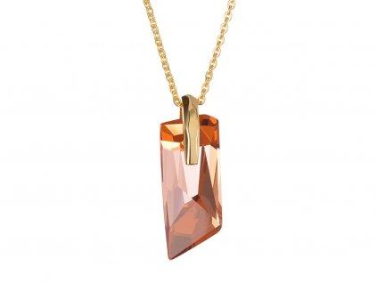 Přívěsek z chirurgické oceli Magical s českým křišťálem Preciosa - oranžový