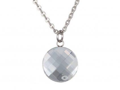 Přívěsek z chirurgické oceli Addy s českým křišťálem Preciosa - krystal
