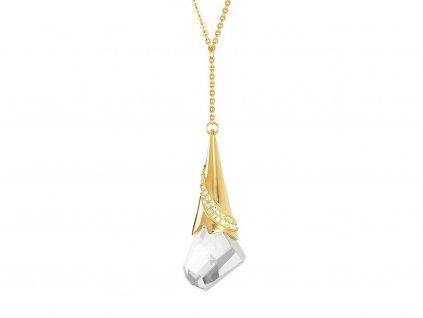 Přívěsek z chirurgické oceli Gracious s českým křišťálem Preciosa - zlatý