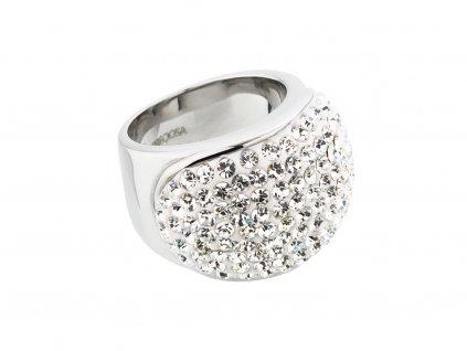 Prsten z chirurgické oceli Brillant s českým křišťálem Preciosa - krystal