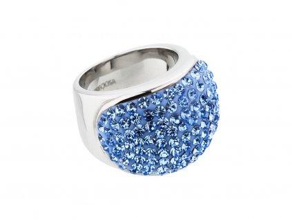 Prsten z chirurgické oceli Brillant s českým křišťálem Preciosa - modrý