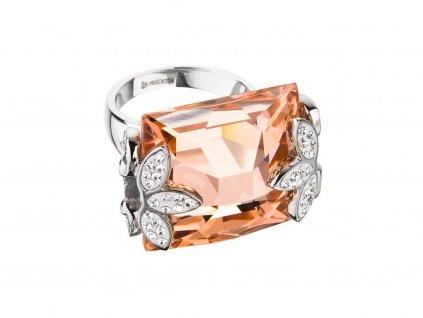 Prsten z chirurgické oceli Floraison s českým křišťálem Preciosa
