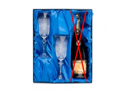 Šampus set, 2ks. broušených skleniček