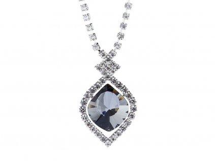 Štrasový náhrdelník Cassiopeia s českým křišťálem Preciosa - černý