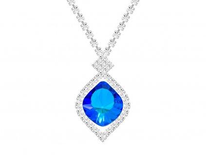 Štrasový náhrdelník Cassiopeia s českým křišťálem Preciosa - modrý