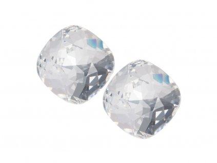 Stříbrné náušnice Brilliant Rose s českým křišťálem - krystal