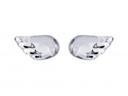 Stříbrné náušnice Crystal Wings s českým křišťálem Preciosa