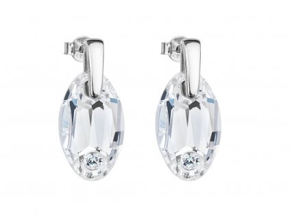 Stříbrné náušnice Elegancy s českým křišťálem Preciosa