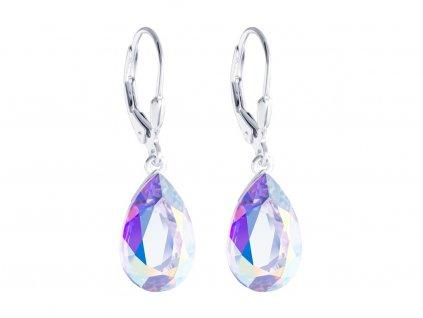 Stříbrné náušnice Iris s českým křišťálem Preciosa - krystal