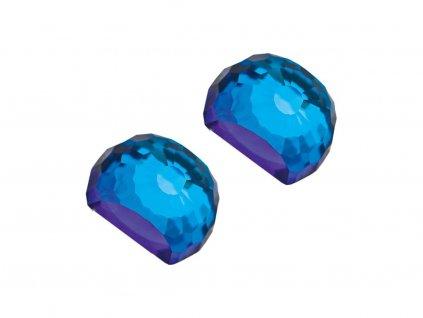 Stříbrné náušnice Miltonia s českým křišťálem Preciosa - modré