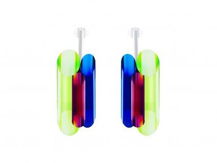 Stříbrné náušnice Neon Collection by Veronica s českým křišťálem Preciosa