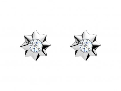 Stříbrné náušnice Orion s kubickou zirkonií Preciosa, hvězdička 5249 00