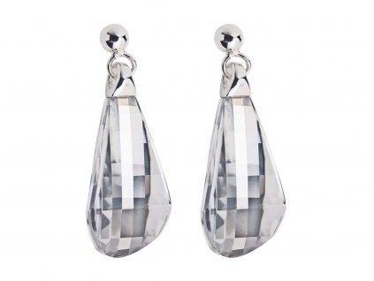 Stříbrné náušnice Pleione s českým křišťálem Preciosa - krystal