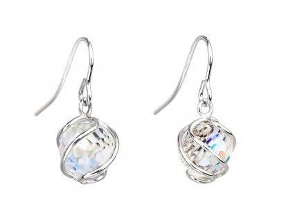 Stříbrné náušnice Romantic Beads s českým křišťálem Preciosa