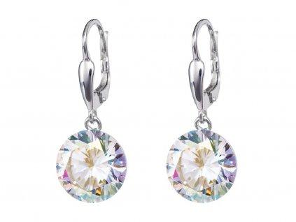 Stříbrné náušnice Starry s kubickou zirkonií Preciosa - krystal