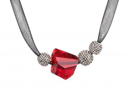 Stříbrný náhrdelník Charme s českým křišťálem Preciosa - červený