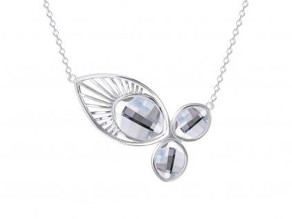 Stříbrný náhrdelník Orchid s křišťálem Preciosa