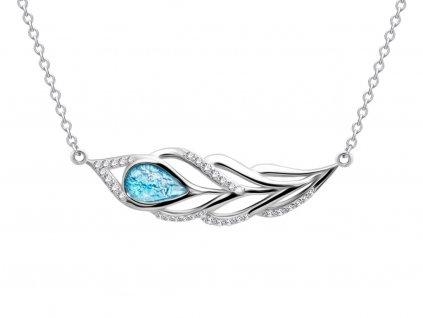 Stříbrný náhrdelník Penna s českým křišťálem a kubickou zirkonií Preciosa