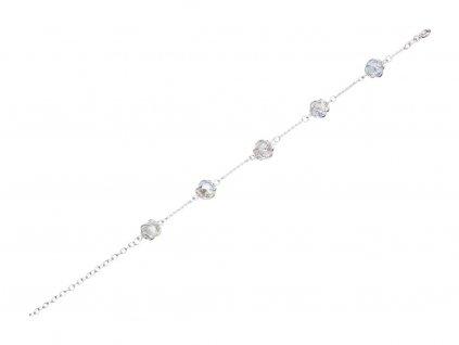 Stříbrný náramek Romantic Beads s českým křišťálem Preciosa