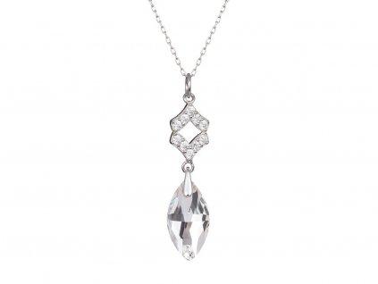 Stříbrný přívěsek Crystal Bud s českým křišťálem Preciosa