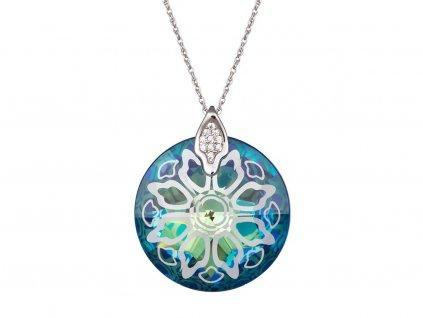 Stříbrný přívěsek Crystal Rose II - bermuda blue
