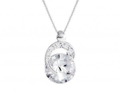 Stříbrný přívěsek Gentle Beauty s českým křišťálem Preciosa 6766 00L