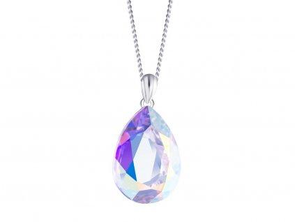 Stříbrný přívěsek Iris s českým křišťálem Preciosa - krystal