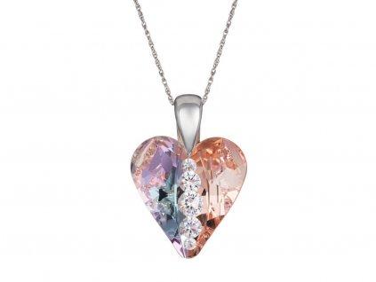 Stříbrný přívěsek Love Heart s českým křišťálem Preciosa