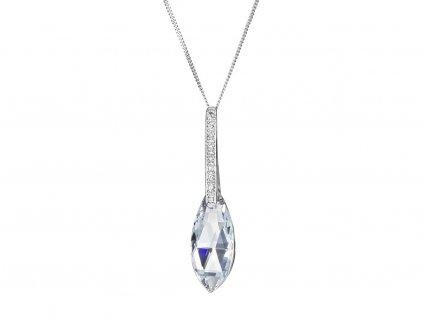 Stříbrný přívěsek Peacock Feather s českým křišťálem Preciosa - krystal