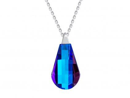 Stříbrný přívěsek Pleione s českým křišťálem Preciosa - modrý