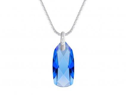 Stříbrný přívěsek Polar Stone s českým křišťálem Preciosa - modrý