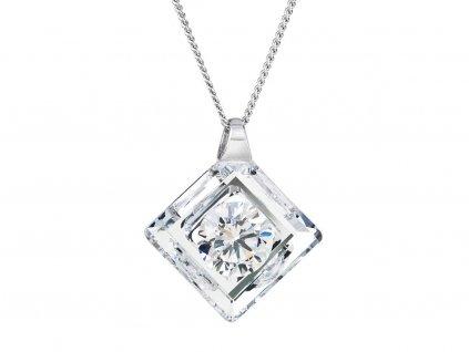 Stříbrný přívěsek Precious s českým křišťálem Preciosa - krystal