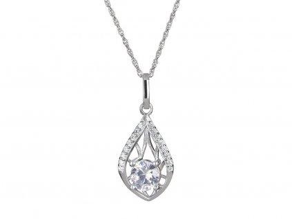 Stříbrný přívěsek Touch of Elegance s českým křišťálem a kubickou zirkonií Preciosa