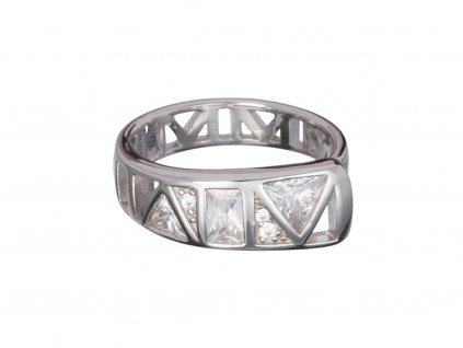 Stříbrný prsten Gentle Inspiration s českým křišťálem a kubickou zirkonií Preciosa