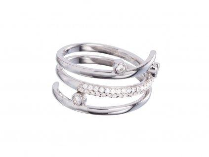 Stříbrný prsten Infinite s českým křišťálem Preciosa
