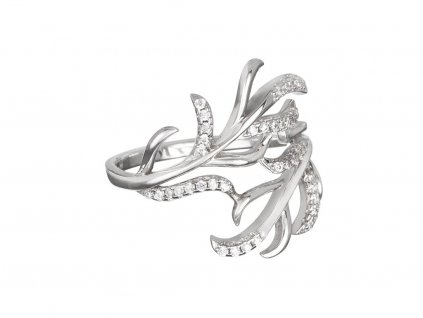 Stříbrný prsten Joy s českým křišťálem a kubickou zirkonií Preciosa