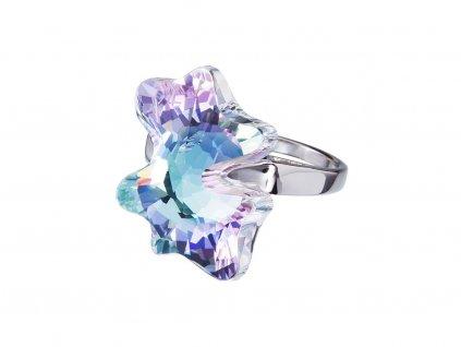 Stříbrný prsten Magic Butterfly s českým křišťálem Preciosa