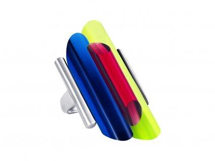 Stříbrný prsten Neon Collection by Veronica s křišťálem Preciosa - kombi