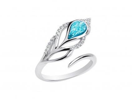 Stříbrný prsten Penna s českým křišťálem a kubickou zirkonií Preciosa