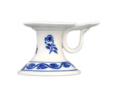 Svícen 1991 s ouškem - cibulový porcelán 10181