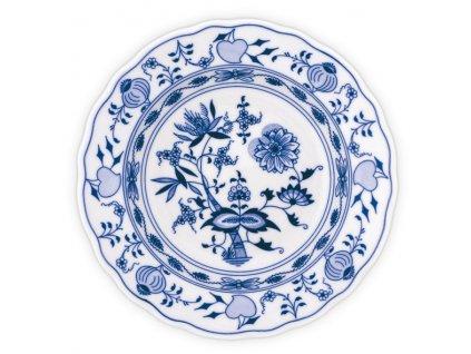 Talíř hluboký praporový 24cm - cibulový porcelán 10002