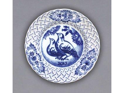 Talíř závěsný reliéfní / výroční 2013 - cibulový porcelán 10432