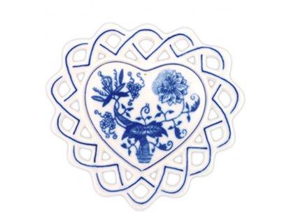 Vánoční ozdoba - srdíčko - cibulový porcelán 10364